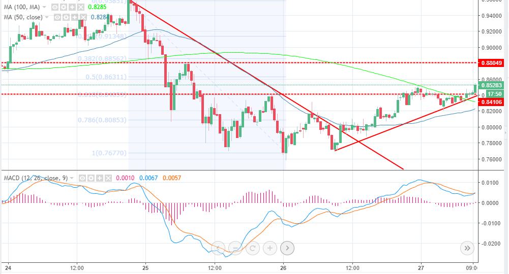XRP/USD 30' chart