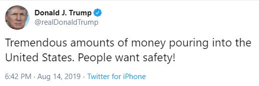 Tremendous united states trump money pouring