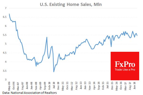 Продажи вторичного жилья в США снизились в марте